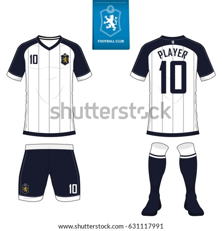 set soccer kit football jersey template stock vector 563051164