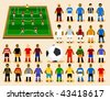 Set of Soccer Player in Formation. Vector Illustration - stock vector