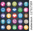 Set of social media buttons for design - part 2 - vector icons - stock vector