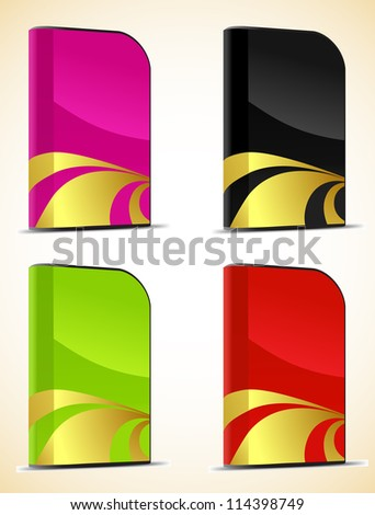 Set of software boxes. Vector illustration - stock vector