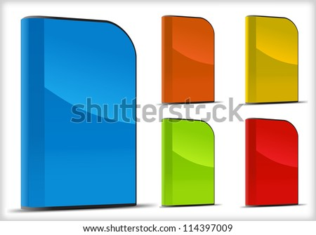 Set of software boxes. Vector illustration object - stock vector