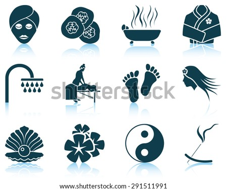Set of spa icons.  - stock vector