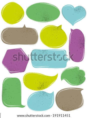 Set of special labels and bubble, vector illustration - stock vector