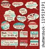 Set of special sale offer labels and banners , vector illustration - stock vector