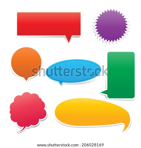 Set of Speech bouble colorful