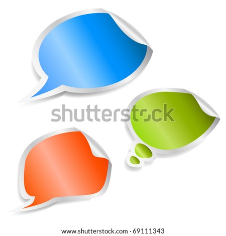 Set of speech bubble stickers. Vector eps10 illustration - stock vector