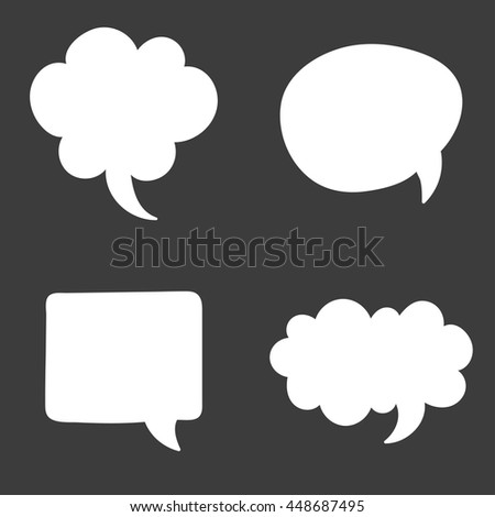 Set of speech bubble. Think cloud symbols. Vector illustration