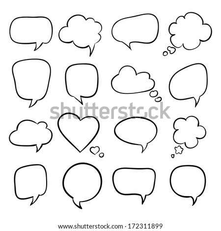 Set of speech bubbles, sketch