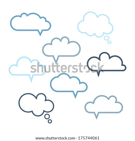 Set of speech bubbles. Vector illustration - stock vector