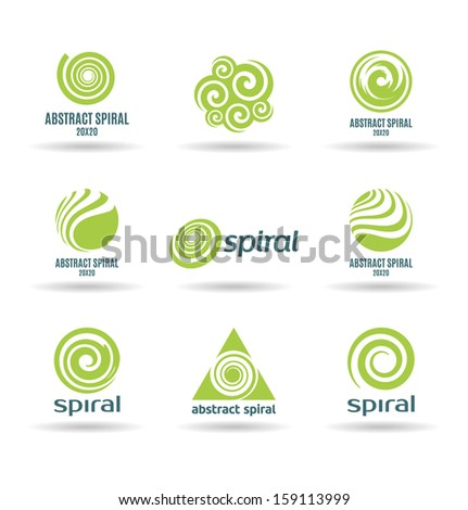 Set of spirals (2) - stock vector