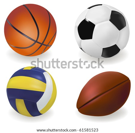 Set of sport balls. Vector - stock vector