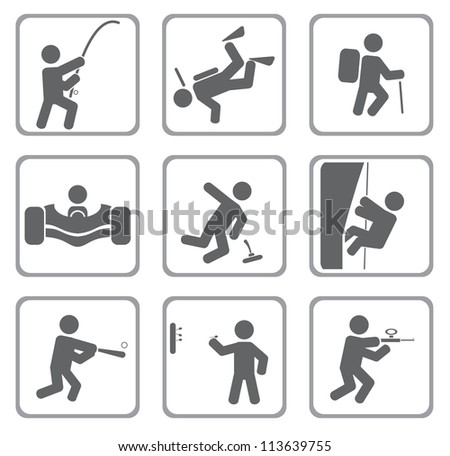 Set of sport icons. Vector - stock vector
