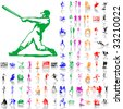 Set of sport sketches. Part 2. Isolated groups and layers. Global colors. - stock vector