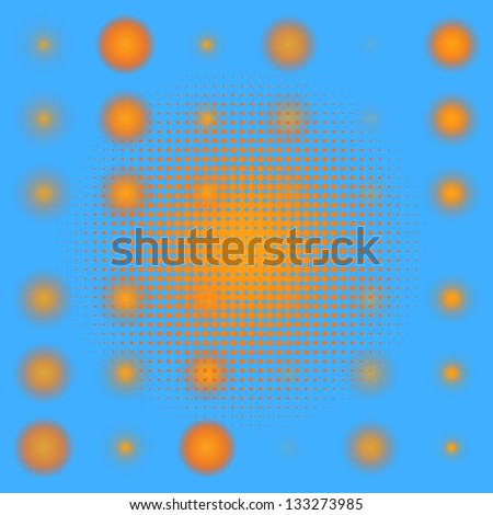 Set of spotted Orange halftone. EPS 8 vector file included - stock vector
