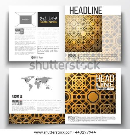 Set square design brochure template islamic stock vector for Islamic brochure design