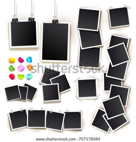 Set Square Vector Photo Frames On Vector de stock707578084: Shutterstock