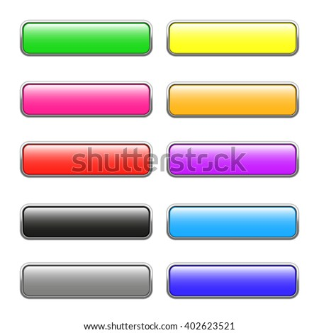 Set of square web buttons