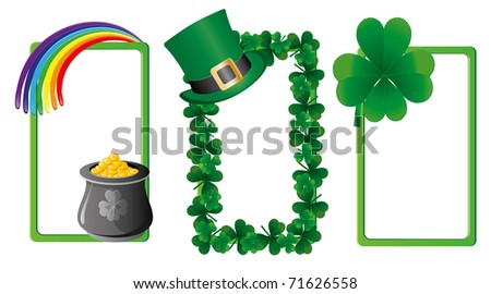 Set of St. Patrick`s day banners, part 3, vector illustration - stock vector
