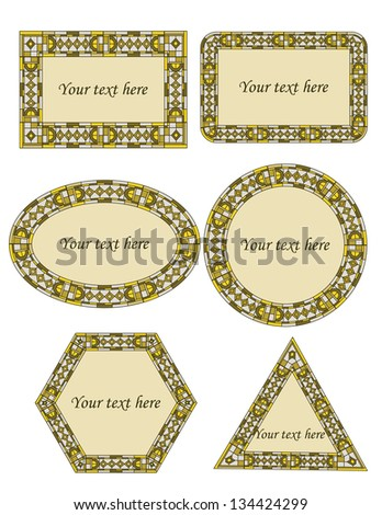 Set of stained glass frames