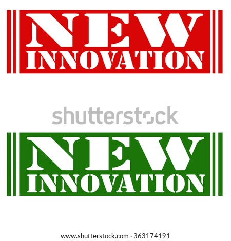 Set of stamps with text New Innovation,vector illustration - stock vector