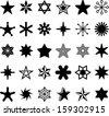 Set of STARS - stock vector