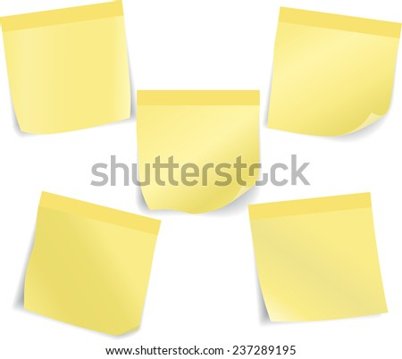 Set of stick notes. Vector illustration Eps 8. - stock vector