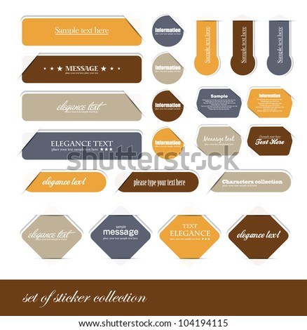 set of sticker collection - stock vector