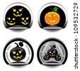Set of stickers for Halloween - stock vector