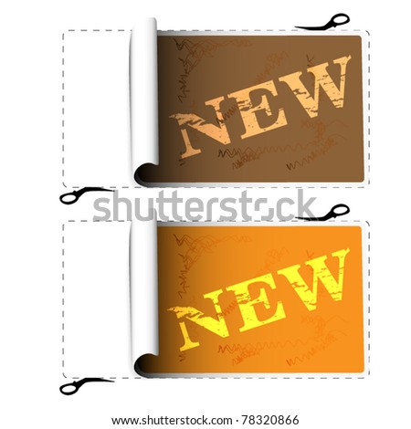 Set of stickers - new - stock vector