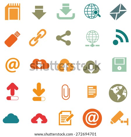 set of storage icons - stock vector