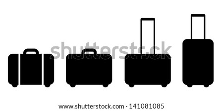 Set of suitcase icon - stock vector