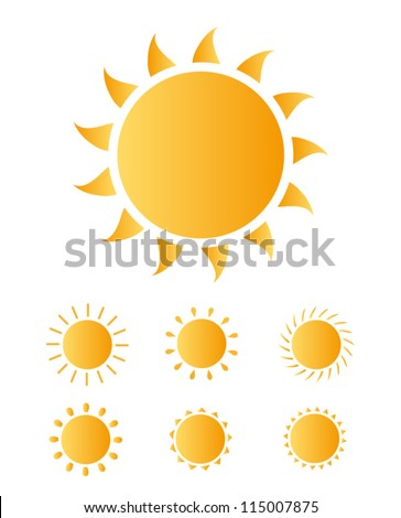 set of sun vector - stock vector