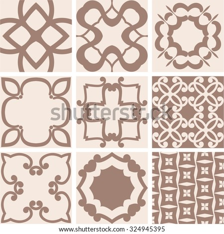 Set of swatches for seamless patterns. - stock vector