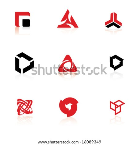 Set of symbols, logo elements - stock vector