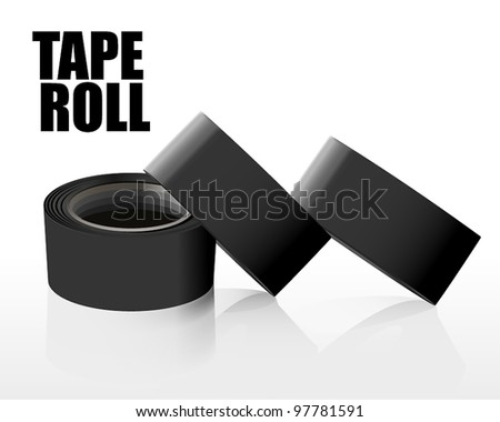 Set of tape rolls - stock vector