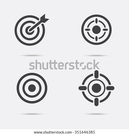 Set of targets icon. - stock vector