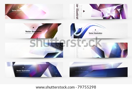 Set of technology web background/banner. - stock vector
