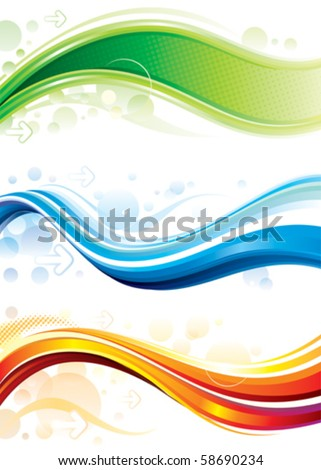 Set of technology web background/banner. Vector layered. - stock vector