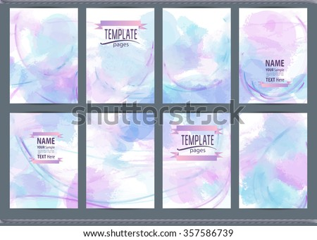 painted hands pages cover posters flyers stock vector 348085373