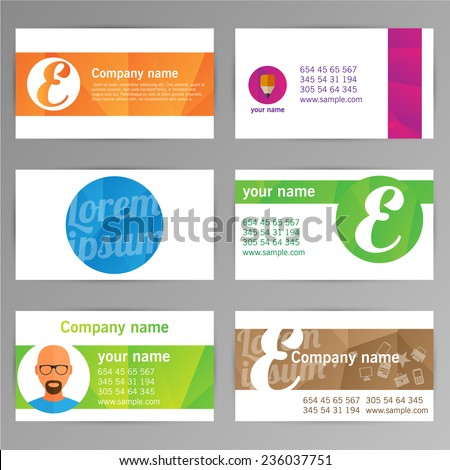 set of templates for business cards. Elements for design. Eps10 - stock vector
