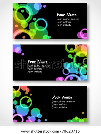 Set of templates for business cards. Vector illustration. Eps10.