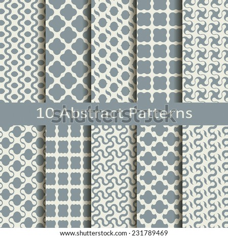 set of ten abstract patterns