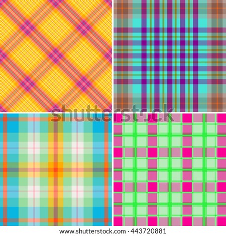 Set of textile patterns - stock vector