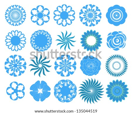 Set of the flowers - stock vector