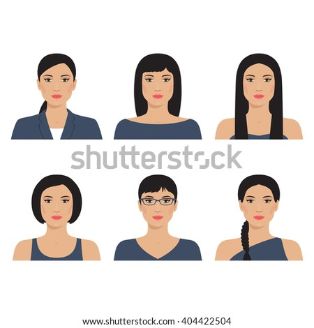 set vector avatar profiles icon illustrations stock vector royalty