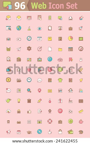 Set of the web interface icons - stock vector