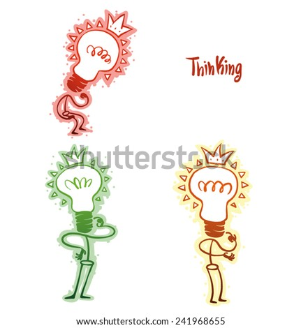 set of Thinking, vector - stock vector