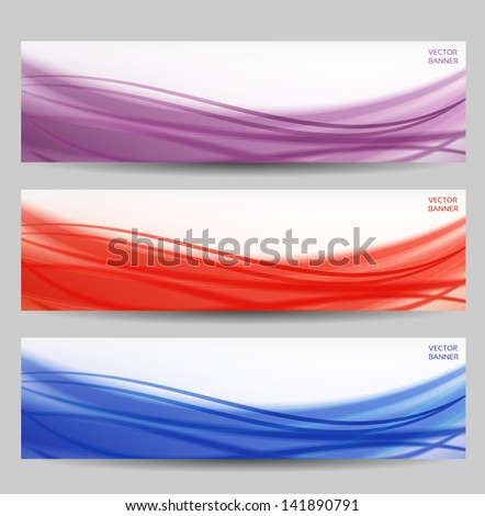 set of three abstract banners - stock vector