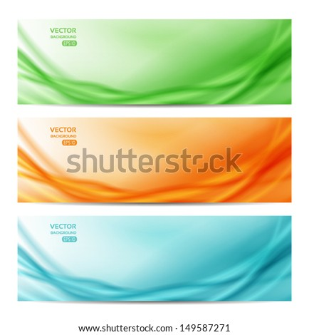 set of three abstract banners. eps 10 - stock vector