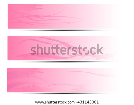 set of three banners,abstract background with pink color,vector